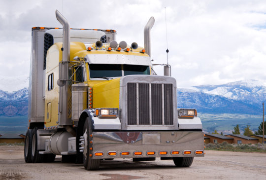 yellow big truck