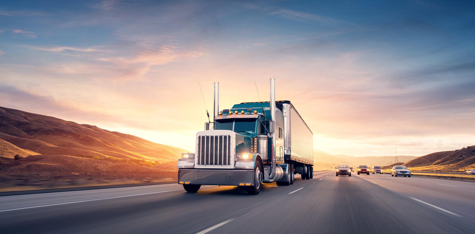 big truck on a road