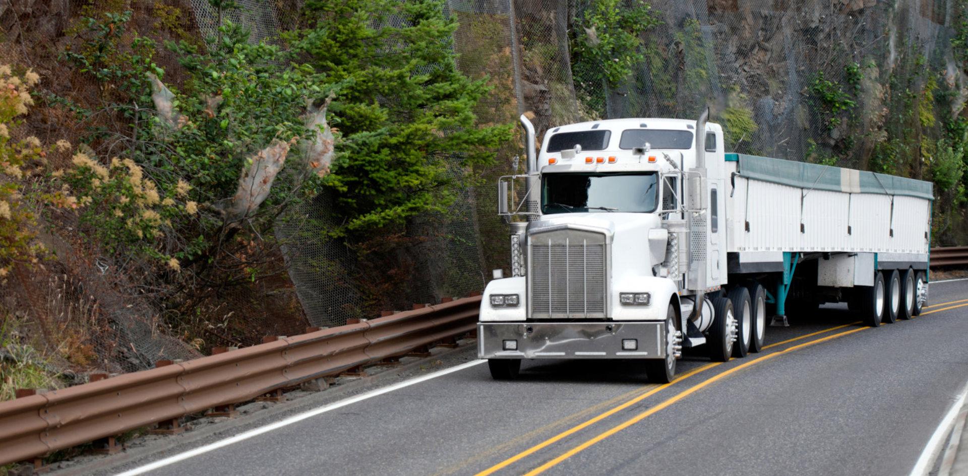 white big truck